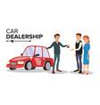 car dealer car dealership agent auto vector image vector image