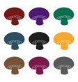 champignon icon in black style isolated on white vector image