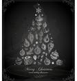 Christmas Tree on Chalk Board vector image vector image