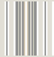 classic shirting stripe in warm neutral colors vector image