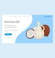 coconut oil eco organic ingredient for cosmetics vector image
