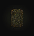 cylinder golden abstract on dark vector image vector image