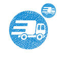 Delivery car small truck simple single color icon vector image
