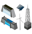 different technology for energy sources vector image