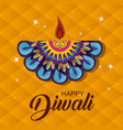 diwali mandala candle to light festival vector image vector image