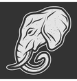 Elephant symbol logo for dark background vector image vector image