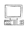 figure computer technology electronic object vector image vector image