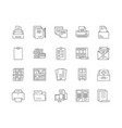 files line icons signs set outline vector image