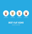 flat icon alternative set of propeller power vector image