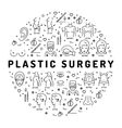 Flat infographics Plastic Surgery Medical linear vector image vector image