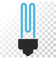 Fluorescent Bulb Icon vector image