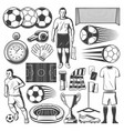 football or soccer sport equipment symbols vector image