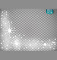 glow light effect christmas vector image vector image
