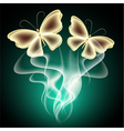 Glowing background with butterflies vector image vector image
