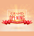 grand opening party invitation card design vector image vector image