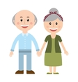 grandparents silhouette isolated icon vector image vector image