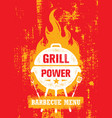 grill power barbecue menu outdoor charcoal vector image vector image