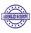 grunge textured assembled in europe stamp seal vector image vector image