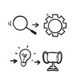 hand drawn doodle element for infographic purpose vector image vector image
