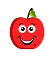 happy apple emoticon vector image vector image