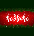 ho-ho-ho text on card for christmas holiday vector image vector image