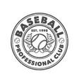 logo design baseball professional club vector image vector image
