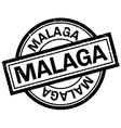 Malaga rubber stamp vector image vector image