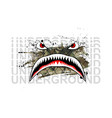 military print flying tiger shark vector image vector image