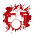 musician playing drum music band vector image vector image