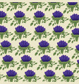nature floral style with leaves background vector image vector image
