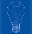 outline light bulb vector image