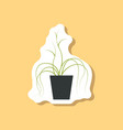 paper sticker on stylish background plant in a pot vector image vector image