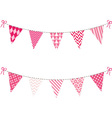 Pink Bunting Flag set vector image vector image