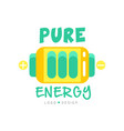 pure energy logo original design with colorful vector image vector image