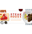 raw fresh meat and grilled meat t-bone steak vector image vector image