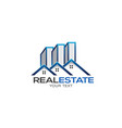 real estate houses and high rise logo vector image