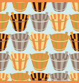 seamless background with wooden buckets vector image vector image