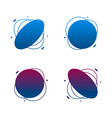 set collection gradient abstract shape frames vector image vector image