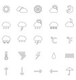 set of contours of weather icons vector image vector image