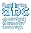 set of retro 70s bold lower case alphabet letters vector image