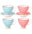 set teacups vector image