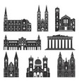 southern europe european buildings on white vector image