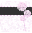 Springtime Pink Purple Hydrangea Flower vector image vector image