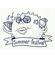 summer festival vector image vector image
