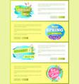 super spring big sale advertisement labels flowers vector image vector image