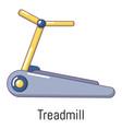 treadmill icon cartoon style vector image