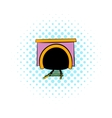 Tunnel icon comics style vector image vector image