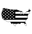 united states america map with flag wrap usa vector image