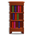 vintage bookcase filled with books library vector image vector image