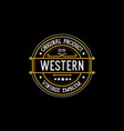 vintage country emblem typography for western bar vector image